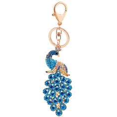 f1dcc5f658c5 Amazon.com   Amino ✮ Sweetpea the Peacock Keychain (XLarge) (Teal)   Office  Products