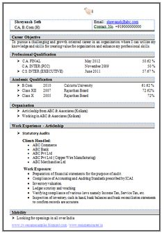 resume format for freshers b.tech eee free download pdf
