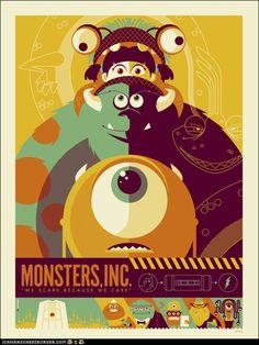 Updated Movie Posters: Monsters, Inc.