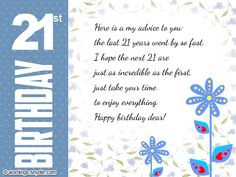Happy B Day 21st Birthday Son Wishes Quotes