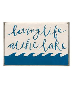 Love this 'Loving Life' Box Sign on #zulily! #zulilyfinds