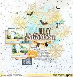 """The Cut Shoppe; Layout by Missy Whidden uses """"Wicked Fun"""" cut file."""