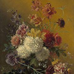 Stilleven met bloemen, Georgius Jacobus Johannes van Os, 1820 - 1861 - Rijksmuseum