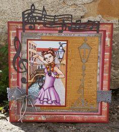 Music in Venetia. Scrapbook Cards, Scrapbooking, Copics, Art Blog, Princess Zelda, Painting, Fictional Characters, Music, Musica