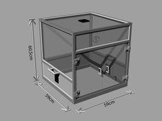 Printable+(modular)+Prusa+/+REPRAP+/+3D-printer+enclosure+frame++by+Rockel83.