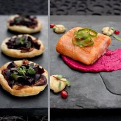 Haute gastronomy: Colour me chic by Andanté Wiehahn. Roasted beetroot tartlets and grilled salmon trout. #recipe #picknpay #freshlyblogged