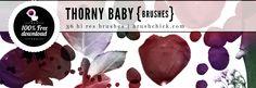 """Free Photoshop Brushes #21 – """"Thorny Baby"""" Brushes"""