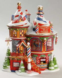 Department North Pole Village - Page 8 Christmas Tree Village, Christmas Town, Merry Christmas To All, Christmas Mantels, Christmas Villages, Beautiful Christmas, Christmas Crafts, Christmas Christmas, Shabby Chic Christmas