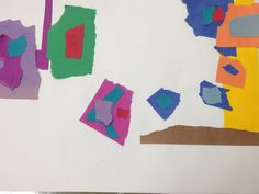 Abstract Family portrait (Construction teared paper)