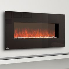 """Hannah, how about his one on the north wall?  Napoleon 48"""" EFL48H Linear Electric Fireplace #LearnShopEnjoy"""