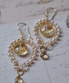 My favorite jewelry at Pandora - Fine Jewelry Ideas Wire Jewelry, Bridal Jewelry, Jewelry Crafts, Beaded Jewelry, Jewelery, Diamond Jewelry, Jewelry Ideas, Chandelier Earrings, Crystal Earrings