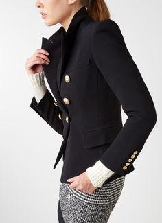 Military look blazer