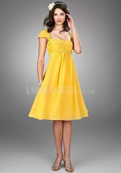 Delicate Sleeveless A line Chiffon Straps Party Dresses