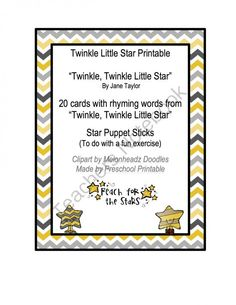 Twinkle Little Star Printable from Preschool Printables on TeachersNotebook.com (10 pages)    free
