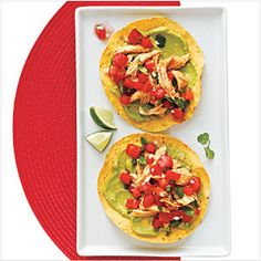 Chicken and Guacamole Tostadas | MyRecipes.com