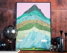 Mountain art  Mountain wall art seven summits poster. by GATURA