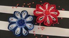 Tutorial: Flores de cinta. Flowers ribbon.