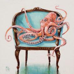 conseguido barniz ?, pintura original del artista Kimberly Applegate   DailyPainters.com