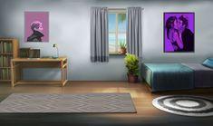 Bedroom Game Stuff In 2019 Episode Interactive Kawaii Background, Scenery Background, Living Room Background, Episode Interactive Backgrounds, Episode Backgrounds, Girl Bedroom Designs, Girls Bedroom, Casa Anime, Bedroom Games