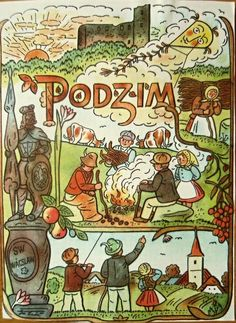 Had not heard of Czech artist, Joseph Lada, until I came across some of his illustrations (like tiny book pages) in a small shop in Prague. Bloom Book, Xmas Cards, Czech Republic, Vintage Images, Illustrators, Folk Art, Fairy Tales, Retro, Artsy