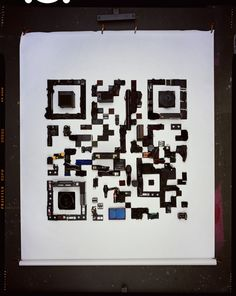 Physical QR code by artist David Sykes. Awesome of the day.