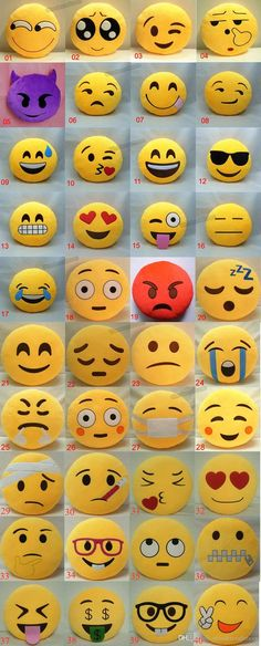 ** These emoji pillows would be great for helping kids and teens explain their emotions. **cg** 40 Styles Soft Emoji Smiley Cushions Pillows Cartoon Facial QQ Emotions Pillow Yellow Round Cushion Stuffed Plush Toy Gift For Baby Kids Rock Crafts, Felt Crafts, Diy And Crafts, Crafts For Kids, Arts And Crafts, Cute Pillows, Diy Pillows, Emoji Craft, Sewing Projects