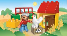 An Egg Hunt in the backyard! A fun follow up activity after reading and building our Busy Farm. #LegoDuploParty