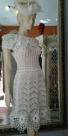 crochet dress, no link T-shirt Au Crochet, Beau Crochet, Mode Crochet, Crochet Shirt, Crochet Woman, Thread Crochet, Clothing Patterns, Dress Patterns, Knit Dress