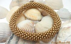 Gold Roll on Beaded Bracelet/ Bangle / Nepal Bracelet/ Armband/ Gold Bracelet by OceanBeads4U on Etsy