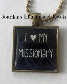 I Love My Missionary - heart - LDS - Mormon - Serving the Lord - Pendant Tray Necklace or Keychain. $10.00, via Etsy.
