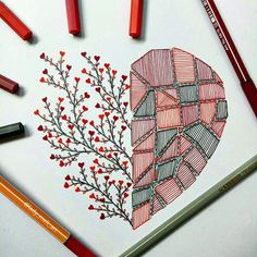 Let me know if you liked itThe Effective Pictures We Offer You About mandala art lesson A quality picture can Drawing Heart, Doodle Art Drawing, Mandala Drawing, Mandala Sketch, Mandala Art Lesson, Mandala Artwork, Marker Kunst, Marker Art, Art Drawings Sketches Simple