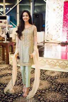 This girl is wearing Ayesha Yousaf. Love the dress. Love the colors.