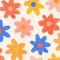 Flowers on repeat over here Pattern Art, Pattern Design, Print Patterns, Pattern Flower, Pattern Illustration, Art Plastique, Wall Collage, Wall Prints, Art Inspo