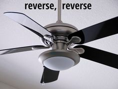 If you reversed the direction of your ceiling fan last fall to bring warm air down for winter, now's the time to reverse again. Make sure your fan is rotating counterclockwise to bring cold air up so you can lower your A/C a few degrees