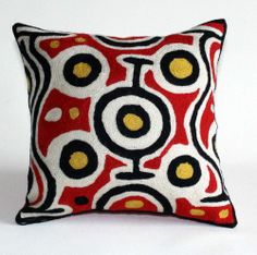 aboriginal cushion, better world arts, aboriginal art, aboriginal culture, aboriginal gifts, aboriginal products, aboriginal craft, Kashmiri...