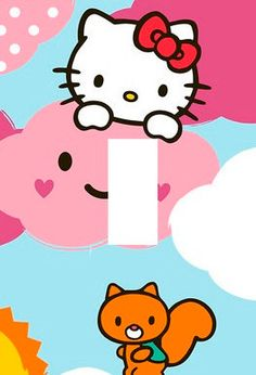 HELLO KITTY Light Switch Plate cover Kids Room by Stillwatersgifts, $6.99
