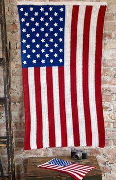 American Pride Free Crochet Pattern from Aunt Lydia's Crochet Thread