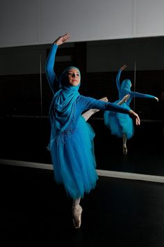 These Photos Capture The Beauty And Grace Of The World's First Muslim Hijabi Ballerina   Huffington Post