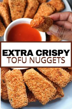You know that crackly, rugged sound when your teeth meets something perfectly battered and fried? The same thing is going to happen here, but we're baking these bad boys up. Less oil, but with all of the flavor and crunch. These vegan, crispy tofu nuggets are a kid-friendly, adult-approved dish perfect for weekend dinners.