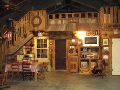 cute interior of barn conversion