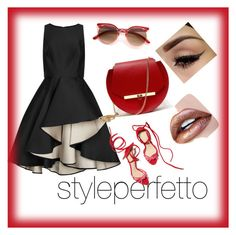 styleperfetto un po di rosso by giovanna-giovanna on Polyvore featuring polyvore Halston Heritage Angela Valentine Handbags fashion style clothing