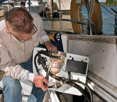 The fuel nozzle at the dock had a recoil like a small caliber pistol. The fuel tank sits tightly immediately beneath the cockpit of my Liveaboard Boats, Boating Tips, Boat Projects, Diesel Fuel, Sailboat, Trip Planning, Sailing, Cruise, Seas