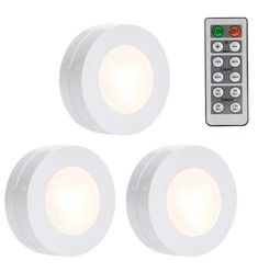 Fashionable In Lunsy Wireless Led Puck Lights Closet Lights 3aa Battery Operated With Remote Style;