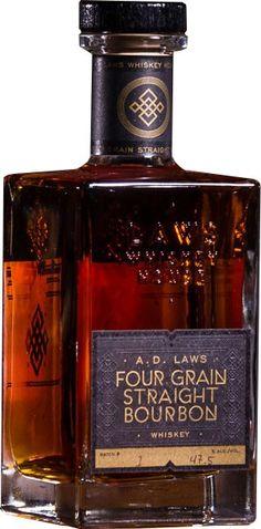 AD Laws Four Grain Bourbon Whiskey   @Caskers
