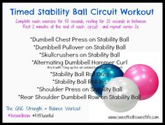 Timed Stability Ball Circuit Workout #livewellnow #fitfluential