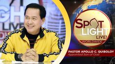 Watch another episode of Pastor Apollo C. Quiboloy's newest program, SPOTLIGHT. For your messages and queries, you can comment it down below so our Beloved P. Cute Dog Wallpaper, New Jerusalem, Kingdom Of Heaven, Son Of God, Apollo, Spotlight, Worship, February, Spirituality