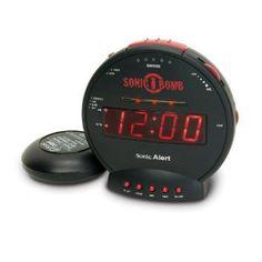 "Geemarc Sonic Bomb Alarm Clock with Vibration (113 dB), Hot deals for ""light alarm clock"
