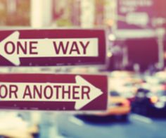 one way. or .another