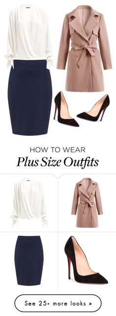 """Untitled #256"" by jjflipflop01 on Polyvore featuring Zizzi and Christian Louboutin"