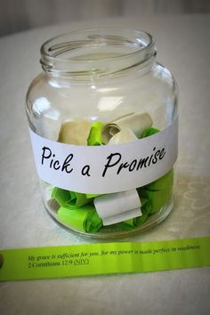 General Conference Recap:  Give girls the general conference talks (short version) and have them the promises that are found in there.  Have them talk and discuss and then write their own for their Pick a Promise Jar.  Great Mutual Night and good way to keep General Conference fresh.  What a great way to remind ourselves of God's promises when things look bleak!